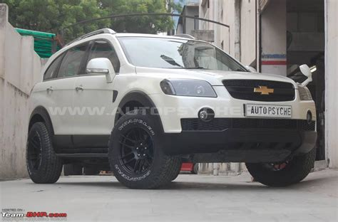 chevrolet captiva modified team bhp pics tastefully modified cars in india