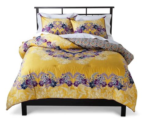 yellow twin comforter yellow and purple floral pattern twin xl target beddings