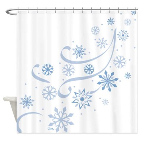 snowflake curtain snowflakes shower curtain by graphicdog