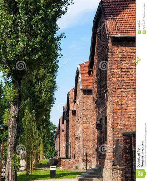 architects of annihilation auschwitz 1842126709 buildings in auschwitz concentration c royalty free stock photos image 31976548