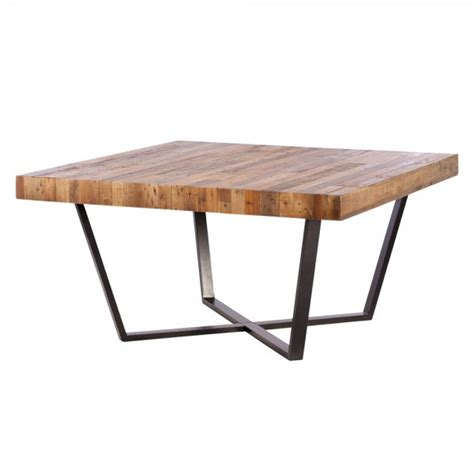 Buy Square Dining Table Buy Recycled Wood Plank Square Dining Table Metal Frame Tables