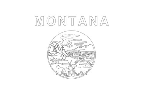 montana symbols coloring pages download and print for free