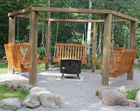 fire pit swing set pallet swing diy fire pit swing set projects pinterest