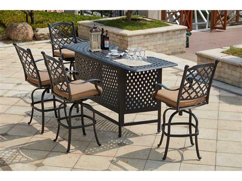 darlee cast aluminum outdoor patio round square bar stool darlee outdoor living standard madison cast aluminum 5