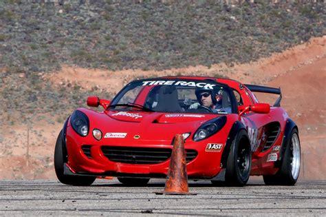 lotus utah autocross 3 sees lotus elise flying across runway