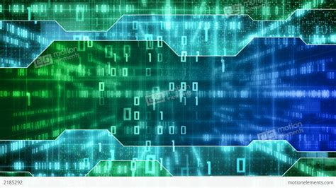 background it blue green loopable it background binary signs stock