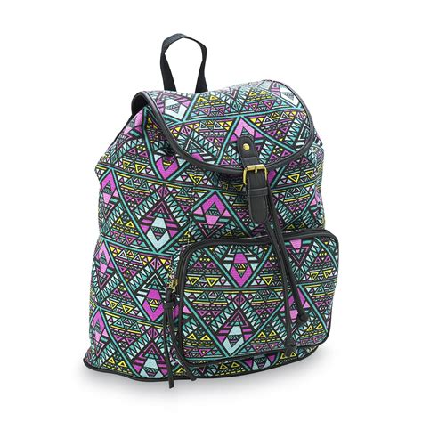 Print Canvas Backpack bongo junior s canvas backpack tribal print