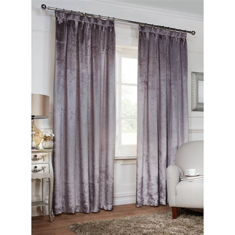 curtain retailers uk versailles crushed velvet 3 quot tape fully lined curtain 46 x