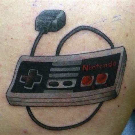 nintendo controller tattoo piercing ideas nintendo