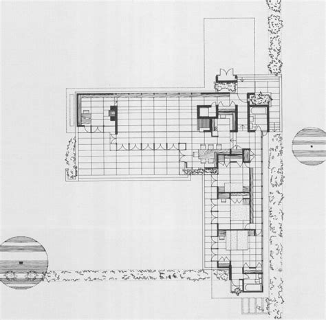 Frank Lloyd Wright Usonian House Plans Not Pc Rosenbaum Floor Plan Frank Lloyd Wright
