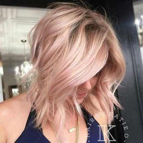 rose gold blonde hair color rose gold hair is the hottest trend this season trendy