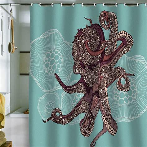 octupus shower curtain valentina ramos octopus bloom shower curtain