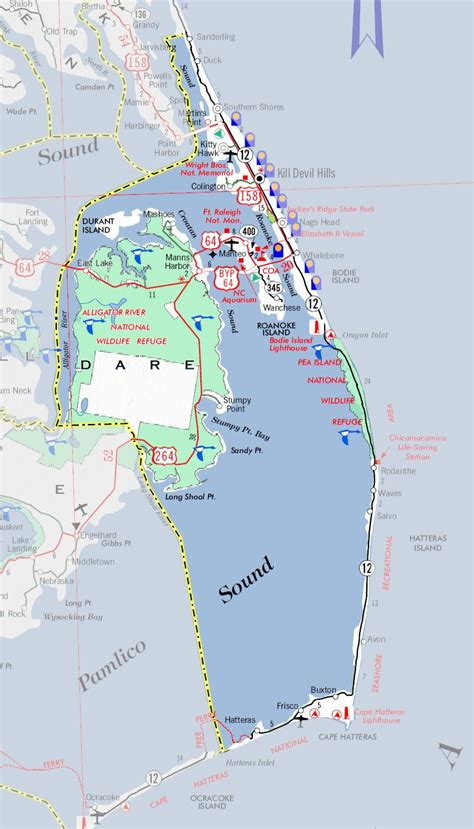 map of outer banks nc discover nc county