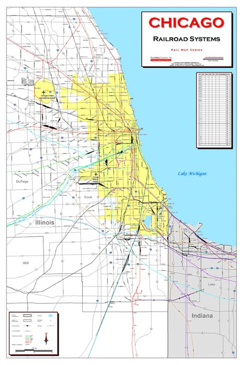 chicago rail map deskmap systems printed railroad maps geographical