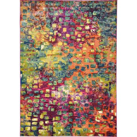 multicolor rug unique loom abstract multicolor barcelona 7 ft x 10 ft area rug 3119583 the home depot