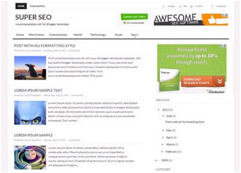 template seo 10 best free templates of all the time trixking