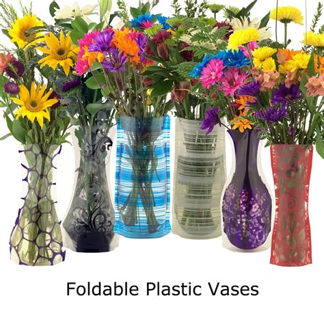 Wholesale Plastic Vases by Wholesale Bloomers Foldable Reusable Plastic Vases