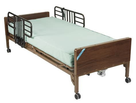 therapeutic bed drive medical full electric bed with half rails and therapeutic support mattress