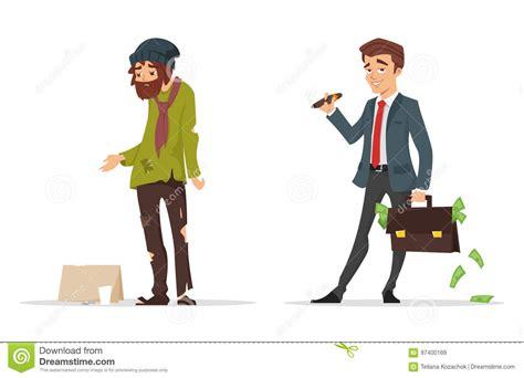 estilo rico estilo pobre 8499925065 caracteres del estilo de la historieta hombre pobre y rico ilustraci 243 n del vector imagen 97400169