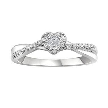 1 8 ct t w 10k white gold promise ring jcpenney