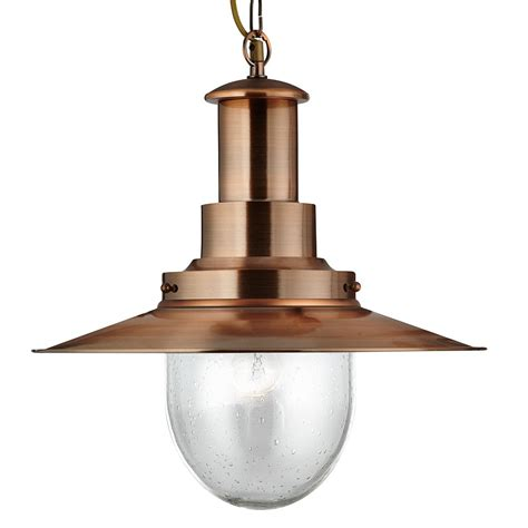 searchlight 5301co fisherman xl ceiling pendant copper