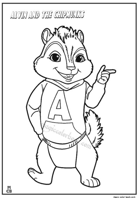 Alvin And The Chipmunks The Squeakquel Magic Color Book Alvin Coloring Pages