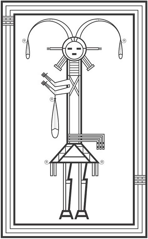 southwestern native american coloring page