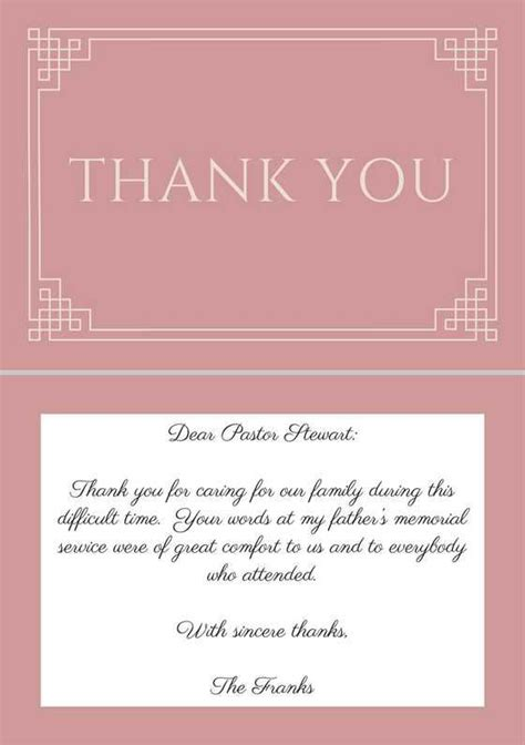 thank you letters after a funeral 46 best funeral thank you cards images on pastor
