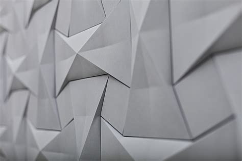 Geometric Origami Patterns - contemporary concrete tile collection kaza concurrent