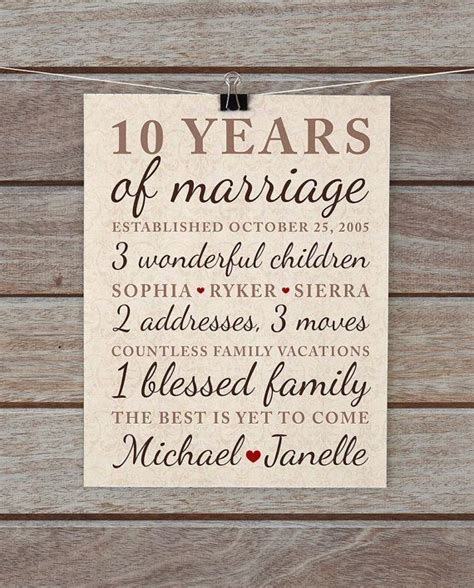 10 Year Anniversary Ideas For - wedding ideas 10 year wedding anniversary gift ideas