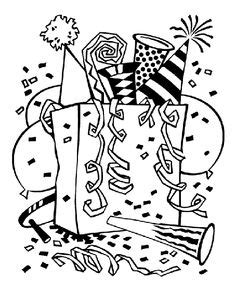 noise maker coloring page teen s new year s eve party on pinterest new years eve