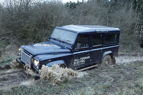 electric land rover electric land rover defender concept photos and details