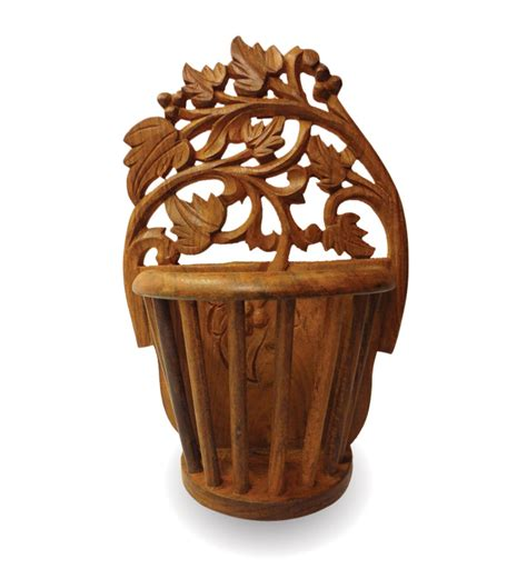 Wooden Flower Vase by Saaga Sheesham Wood Flower Vase By Saaga Vases