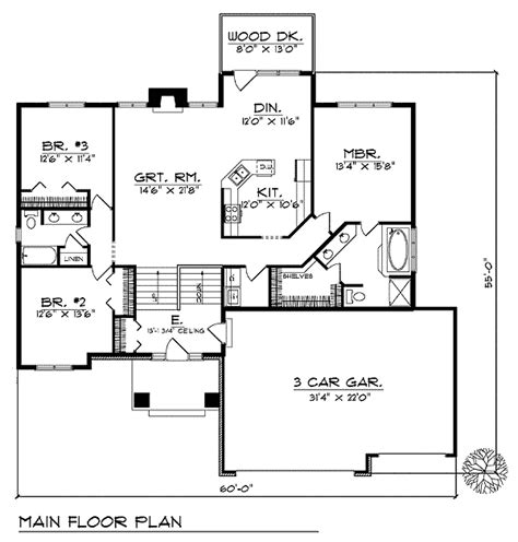 classic home floor plans classic 3 bedroom house plan 89494ah architectural