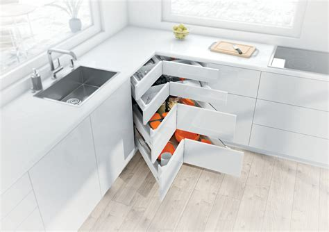 Corner Kitchen Cabinet Storage Ideas blum s space corner