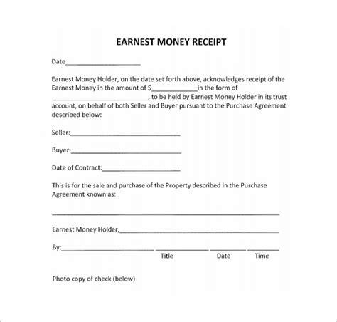 money template for word money receipt format receipt template doc for word