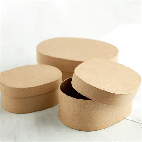 Oval Set 1 paper mache oval box set new items