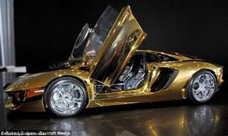 Most Expensive Lamborghini Aventador Gold Lamborghini Worth 163 4m Pictured In Could Be