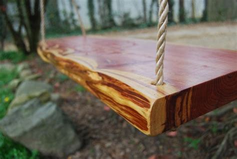 cedar tree swing solid cedar tree swing by bluemountainwoodwork on etsy