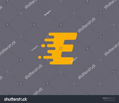 universal design font size abstract letter e logo design template dynamic vector