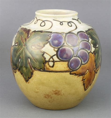 Royal Doulton Vases Catalogue by A Royal Doulton Baluster Vase With Grapes And Vines 3rd