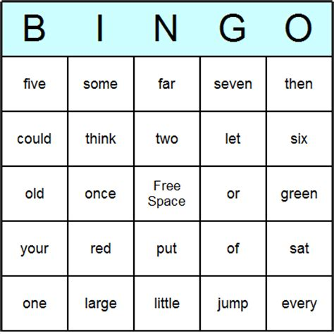free templates for word games sight word bingo blank template ytyruv dycuha