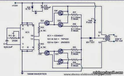 Solder Listrik 100 Watt cara membuat ac inverter 12v ke 110 220vac 500watt