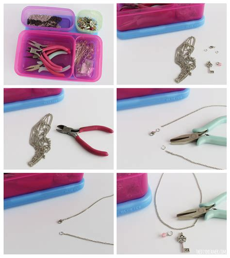 how to make easy jewelry charm necklace easy to make on the go