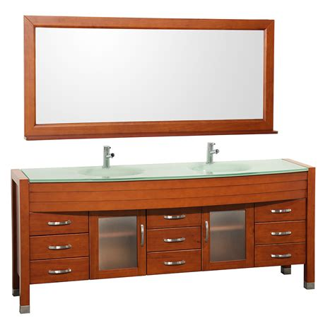 78 Bathroom Vanity 78 Quot Daytona Sink Vanity Cherry Bathgems