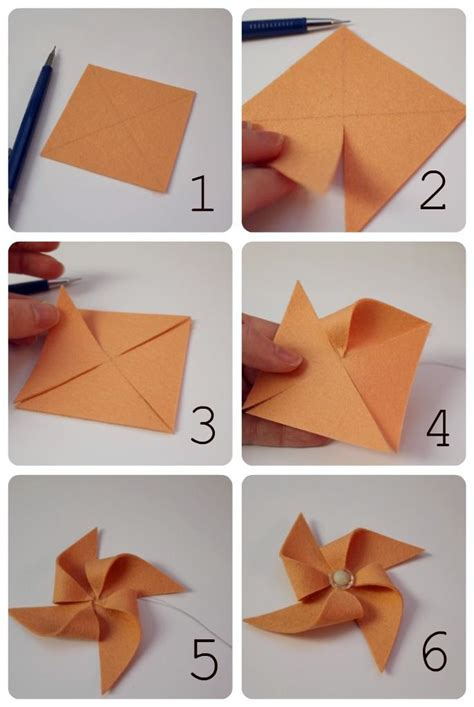 How To Make A Paper Pinwheel - 17 best images about origami mostly jewelry on