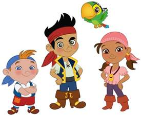 cartoon characters jake neverland pirates