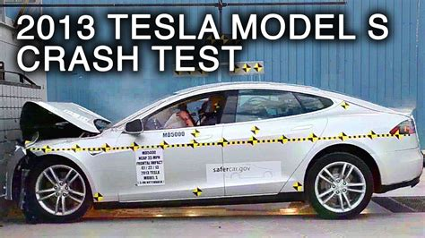 Tesla Model S Crash Test 2013 Tesla Model S Frontal Crash Test By Nhtsa