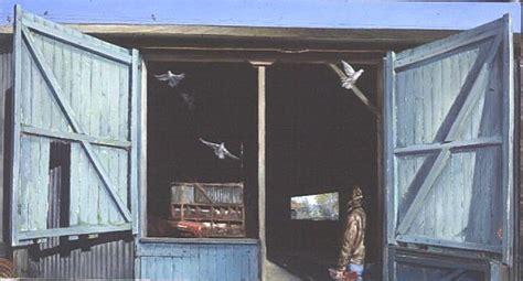 Blue Barn Doors Timothy Easton Als Kunstdruck Oder Blue Barn Doors