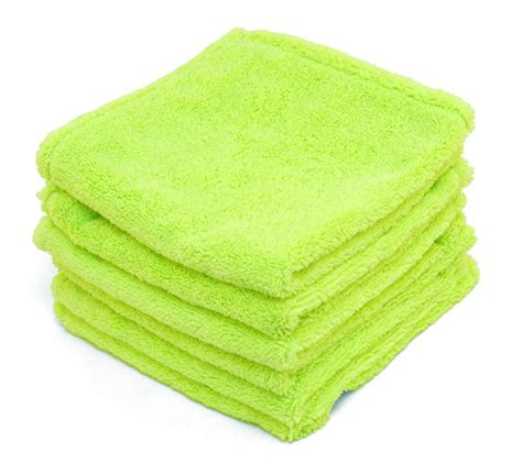 Green Microfiber by Soft Deluxe Green Microfiber Towels With Rolled